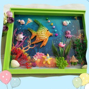 Bộ đồ chơi tự làm khung ảnh 3D handmade