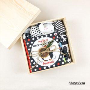 [Quà tặng bé] THE READING BOX – Bộ sách vải, tranh vải và voi bông