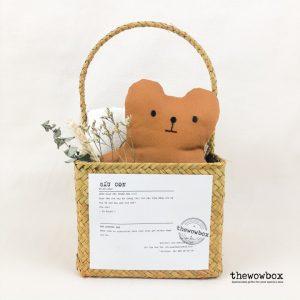 [Quà tặng bé] THE BATHING BOX LIMITED – Bộ khăn tắm và khăn mặt kèm gấu bông xinh xắn